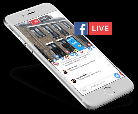 Facebook Live bezichtiging | Blik Makelaars